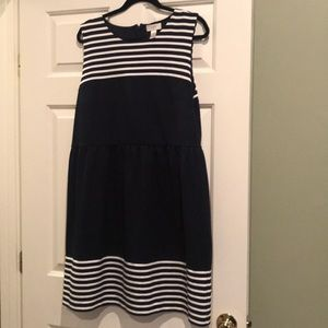 Loft Navy & White Dress, Sz 16